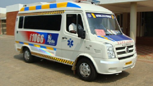 Ambulance provided by Apollo Hospital at NIT Trichy Hospital.